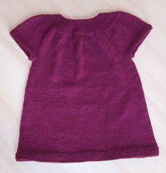 modele robe tricot fillette