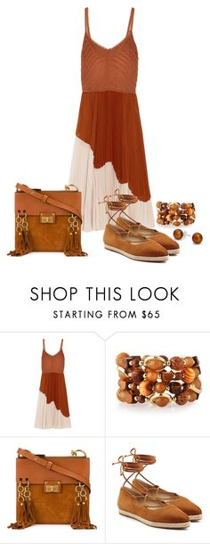 """""""Brown"""" by cris-1121 ❤ liked on Polyvore featuring Jason Wu, Emily & Ashley, Chloé, Michael Kors and Bling Jewelry"""