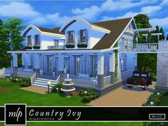 Country Ivy home by mlpermalino at TSR via Sims 4 Updates