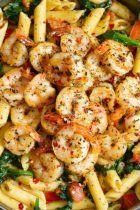 Tomato Spinach Shrimp Pasta-recipe