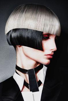 black and white Mod Hair, Avant Garde Hair, Hair Art, Cut And Color, Hair Designs, Cool Hairstyles, Short Hair Styles, Hair Makeup, Hair Color