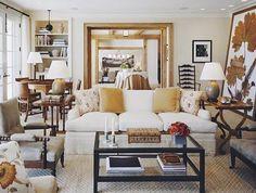 Love this living room - that huge pressed leaf is amazing