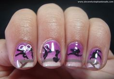 olympic gymnast nails...SO COOL