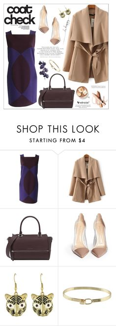 """""""Get the Look: Cool Coats"""" by aurora-australis ❤ liked on Polyvore featuring Versace, Gianvito Rossi, L'Oréal Paris, Pier 1 Imports, Sheinside, polyvoreeditorial and coolcoat"""