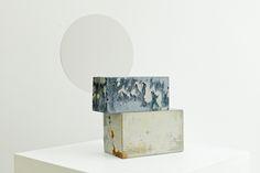 Mirror Sculpture      Materials:   Color pigmented Concrete,mirror   Dimension:  34 x 34 x 15 cm   *Parts can be rearranged.    2015     Price:  605€ /4500 DKK