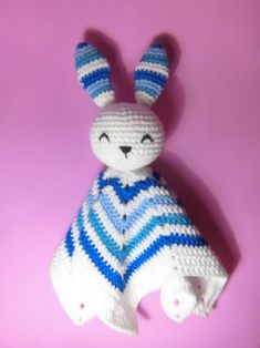 Crochet Security Blanket, Lovey Blanket, Baby Afghan Crochet, Baby Afghans, Hand Crochet, Knit Crochet, Crochet Patterns Amigurumi, Crochet Toys, Baby Lovies