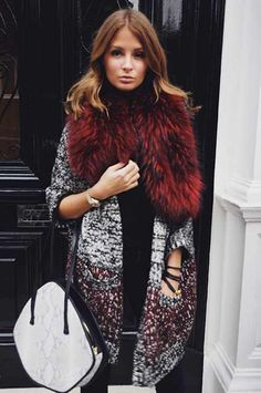 Millie Mackintosh. Statement fur and coatigan.