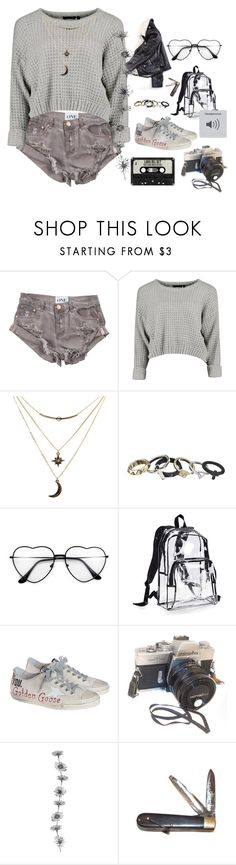"""""""Summer In Seattle"""" by twistedwreackage ❤ liked on Polyvore featuring OneTeaspoon, Charlotte Russe, Eastsport, Golden Goose and Retrò"""