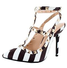 Adora63 Black White Gladiator D'Orsay Multi Metal Stud Ankle Strap Stiletto Heel Pumps-5 Sully's http://www.amazon.com/dp/B00RPW0UI8/ref=cm_sw_r_pi_dp_pqt3ub1FFN593