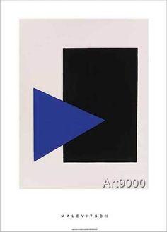 Kasimir Sewerinowitsch Malewitsch - Black rectangle, blue triangle, 1915