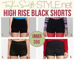 Stoosh 'High-Waist Colored Shorts' - $29.00 American Apparel 'Tap Short' - $48.00 Urban Outfitters 'Kimichi Blue Rosie Pinup Short' - $39.00 $19.00 Express '2 Inch High Rise Ponte Knit Shorts' - $39.90
