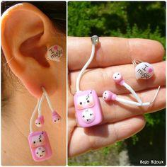 Boucle d'oreille écouteur