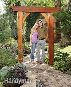 Build a Garden Arch. Maybe this would work under the A/C scaffold.