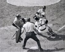 Thurman Munson giving it to Fisk