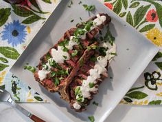 Get Porterhouse Steak with Horseradish Sauce Recipe from Food Network Grilling Recipes, Beef Recipes, Cooking Recipes, Kitchen Recipes, Food Network Trisha Yearwood, Tricia Yearwood Recipes, Food Network/trisha, Porterhouse Steak, Horseradish Sauce