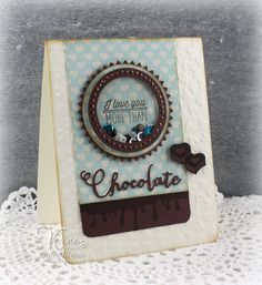 Poetic Artistry: More than Chocolate (Shaker Card)