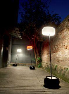 Duna blanc lampadaire d'extérieur - Réf. 10100315
