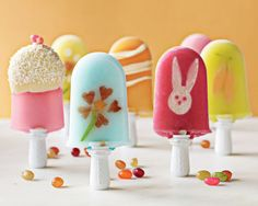 "popcicles - inspiration!  Put gummies or other candies in popsicles to ""decorate"" it and give extra yummies"