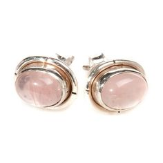 Stone And Silver Stud Earrings from notonthehighstreet.com
