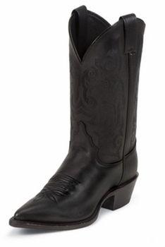 Justin Ladies Classic Western Royal Black Cowhide Boots L4921