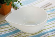 Fire King Teardrop bowl Anchor White