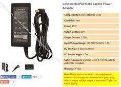 LCD For LAPTOP stock replacement Charger Adapter for lenovo g580 laptop. We stock power supply which are good quality health and safety standards approved. Our website is easy to navigate and database is always up to date. Our objective is customer satisfaction and we have very professional support team. We have very good prices on power adapter for lenovo g580 laptop.