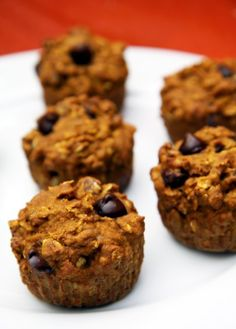 Pumpkin Chocolate Chip Muffins: Try this healthy breakfast recipe to get in the Halloween mood!