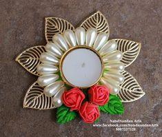 NandNandan Arts Diya Decoration Ideas, Diy Diwali Decorations, Wedding Shower Decorations, Diwali Diya, Diwali Craft, Art N Craft, Diy Art, Acrylic Rangoli, Candle Stands