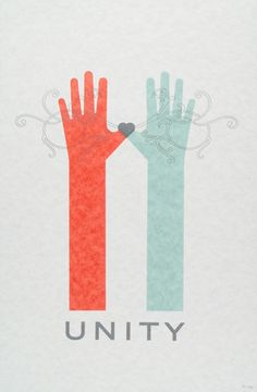 kellymunson1 poster by poster offensive, Hands overlap, unity, heart, design