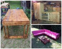I've done a garden table, a chicken coop and a TV stand with recycled pallets ! Mes réalisations en palettes: une table de jardin,un poulailler et un meuble télé! Submitted by: gilles laisné ! #ChickenCoop, #Garden, #Lounge, #PalletTvStand, #Pallets, #Reclaimed, #Table