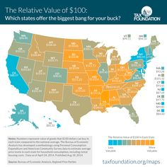 Map: How much $100 is really worth in every state - The Washington Post