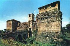 Il castello di Felino in una cartolina degli anni settanta
