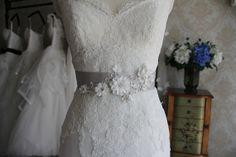 Wedding Belt, Bridal Sash with Lace Applique, Beaded Lace Wedding Sash, features Handcraft Flowers. Wedding Belts, Wedding Sash, Bridal Sash, Lace Wedding Dress, Wedding Dresses, Wedding Looks, Beaded Lace, Lace Applique, White Dress