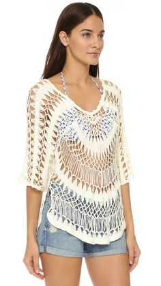 Wildfox A Bikini a Day Mermaid Crochet Tunic