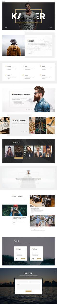 Kaster — Multipurpose Agency/Personal Portfolio & Modern Blog PSD Template - PSD Templates
