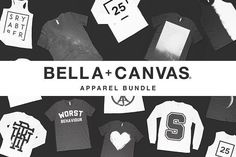 Bella Canvas Mockup Apparel Bundle  @creativework247
