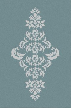 Large Wall  Damask STENCIL Pattern FAUX by innovativestencils, $14.75