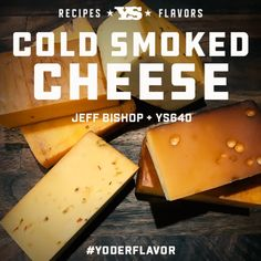 Yoder Smokers owner shares tips on how he cold smokes a variety of cheeses, from Swiss to Feta Bbq Grill, Grilling, Smoked Cheese, Smoke Grill, Smoking Recipes, Bbq Rub, Minced Onion, Swiss Cheese, Smokers
