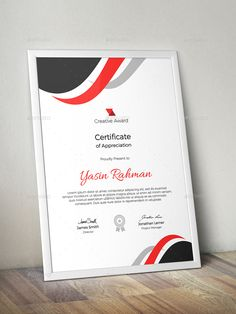 Buy Certificate by CreativeRacer on GraphicRiver. A Great Creative Certificate Template for Creative Person. Features: Easy to Edit CMYK Color 300 DPI High Resolution. Certificate Design, Certificate Templates, Free Portfolio Template, Certificate Of Appreciation, Letterhead, Lorem Ipsum, Illustration Art, Creative, Color