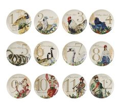 12 Days of Christmas Plates | WebNuggetz.com  sc 1 st  Pinterest & How Many Place Settings Should I Buy? | Christmas dinnerware sets ...