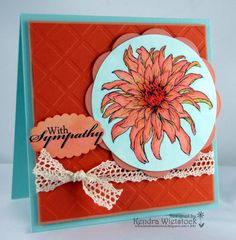 By: Kendra Wietstock; Crafter's Companion (Sheena Collection ~ Dahlia); Spectrum Noir Pens