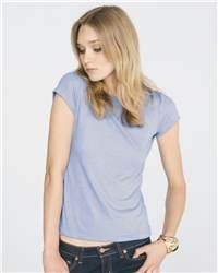Heather-blend colors lend a soft look to an already soft jersey knit.