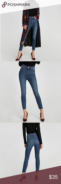 Zara High Waist Helen Jeans Worn once, in excellent condition. Very flattering. I love these jeans I just have so many pairs that I need to downsize my collection a little bit. Size 34/US 2. Zara Jeans Skinny