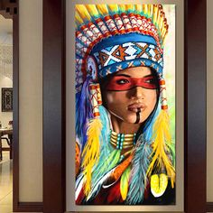Murals Street Art, Mural Art, Wall Art, Native American Girls, American Indian Art, African Art Paintings, Dark Art Drawings, Art Anime, Cow Art