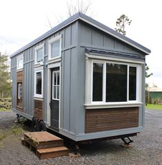 The Urban Craftman tiny home from Handcrafted Movement; a two bedroom home with just 290 sq ft of space.