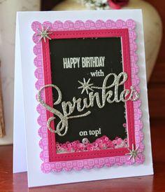 More Sprinkles! Papertrey Ink Shakers & Sprinkles, Birthday Card, Shaker Card