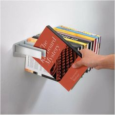 FLYBRARY BOOKSHELF | Floating Metal Book Shelf, Bookshelves Float On Wall, Modern, Unique, Fun, Functional | UncommonGoods on Wanelo