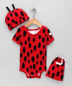 Red & Black Ladybug Bodysuit Gift Set