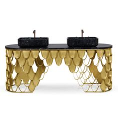Koi Washbasin In Estremoz Marble Gray With Brass Base By Maison Valentina Art Deco Bathroom, Modern Bathroom, Garden Bathroom, Gold Bathroom, Bathroom Ideas, Bamboo Texture, Art Deco Furniture, Bathroom Furniture, House Viewing