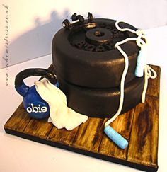 Fitness cake for a personal trainer